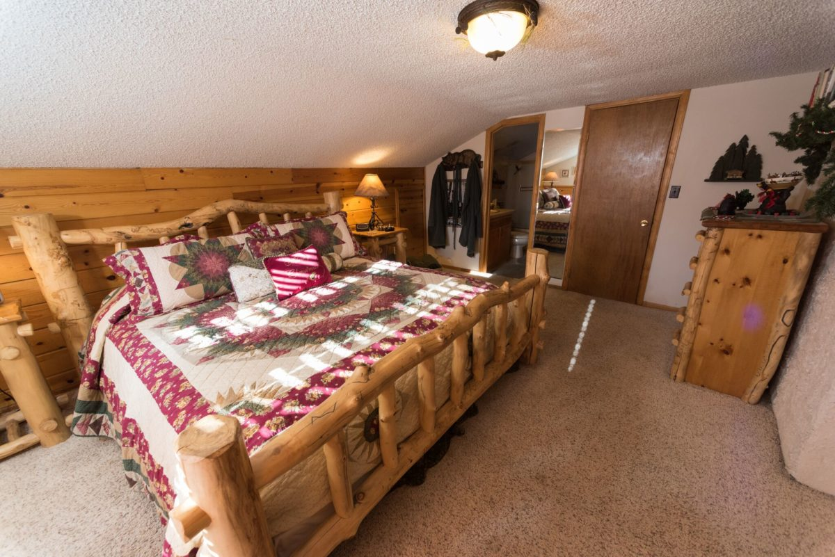 Upstairs at the Swiss Chalet Bedroom