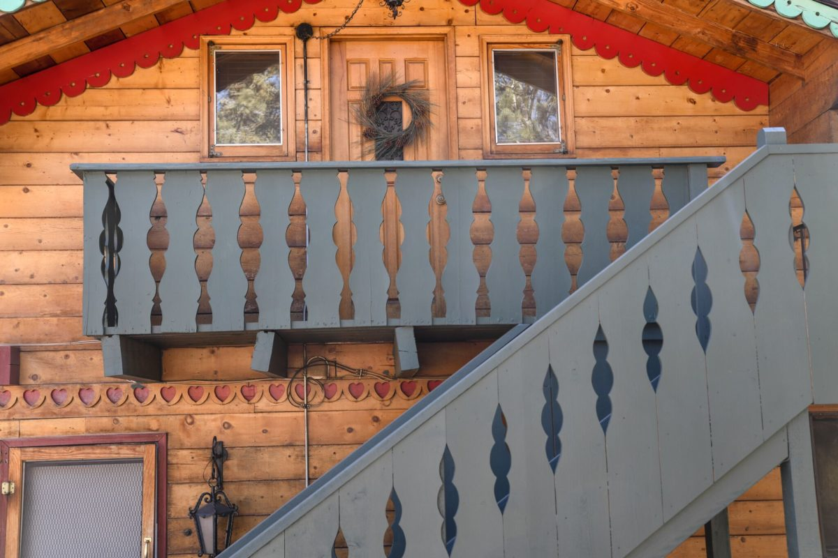 Upstairs at the Swiss Chalet Front Door